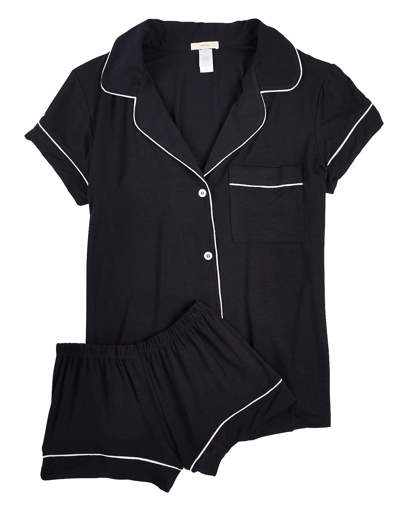 Gisele Pajama Short Set, BLACK, hi-res