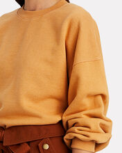 V-Neck Balloon Sleeve Sweatshirt, ORANGE, hi-res