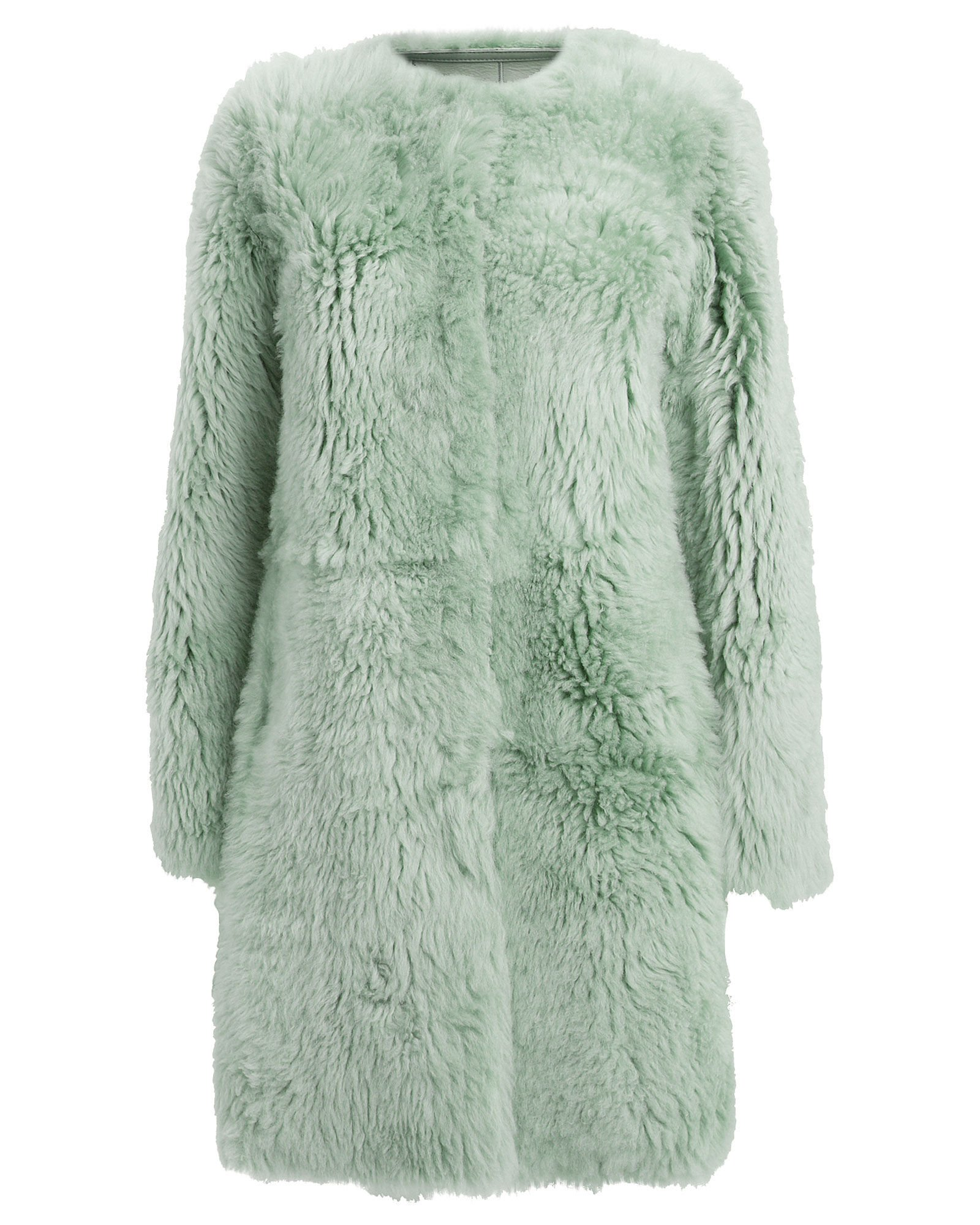 Reversible Merino Lamb Fur Coat, MINT, hi-res