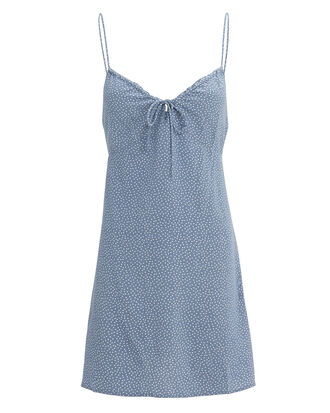 Florence Slip Mini Dress, BLUE/POLKA DOT, hi-res