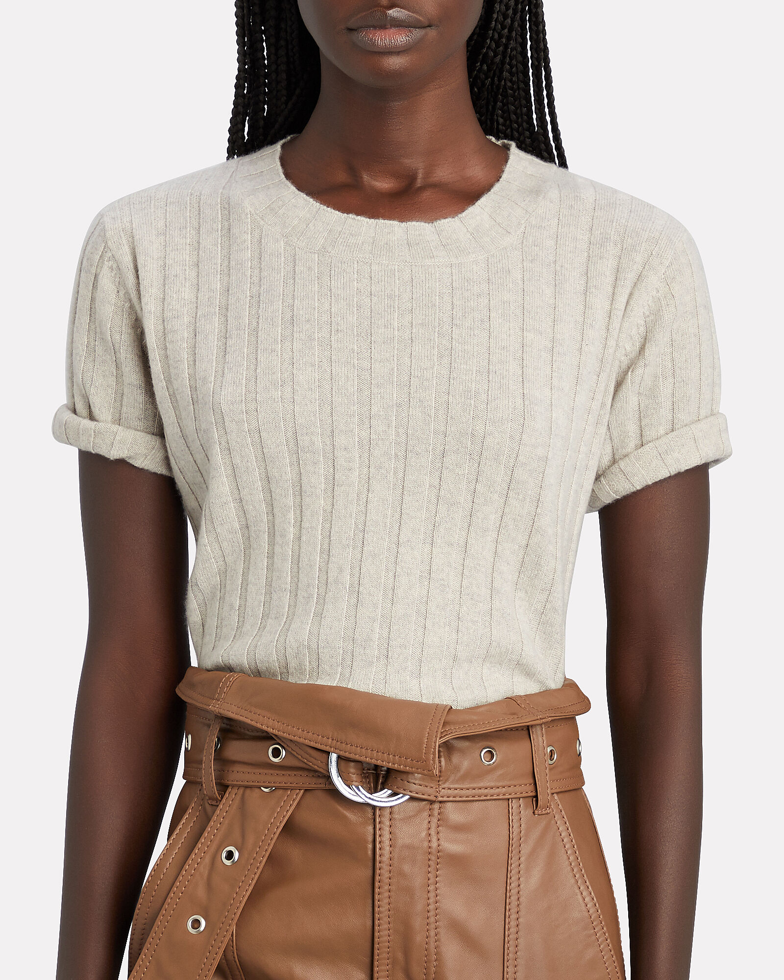 Ethan Cashmere Short Sleeve Sweater, , hi-res