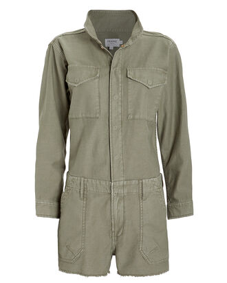 Service Denim Shortall, ARMY GREEN, hi-res