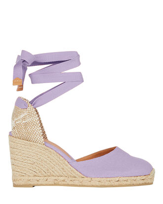 Carina 80 Espadrille Wedges, PALE PURPLE, hi-res