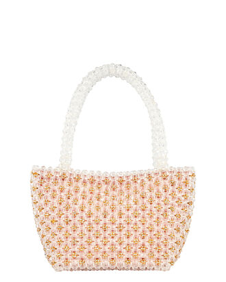 Mina Mini Beaded Tote Bag, GOLD, hi-res