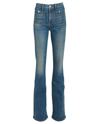 Florence Flared High-Rise Jeans, WATERFALL, hi-res