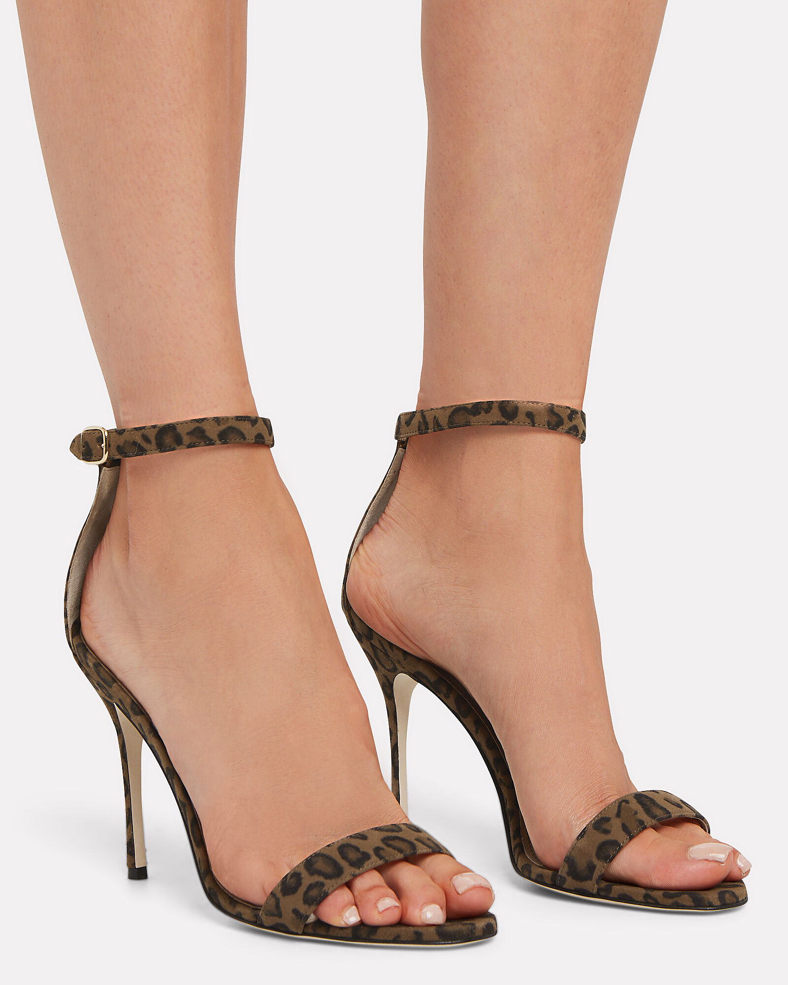 Chaos Leather Heeled Sandals, BROWN, hi-res