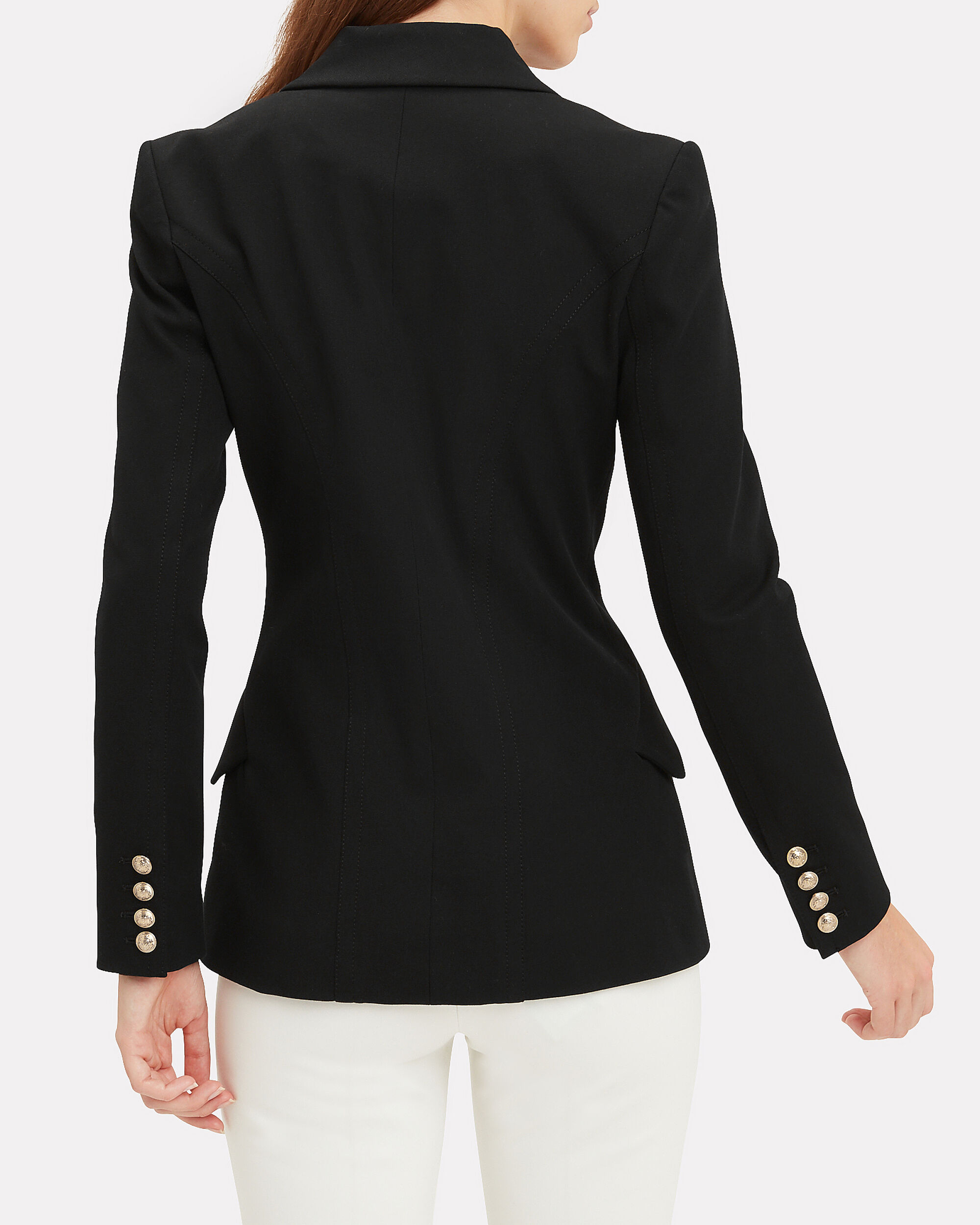 Core Rodeo Double-Breasted Blazer, BLACK, hi-res