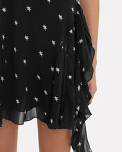 80s Star Mini Dress, BLACK, hi-res