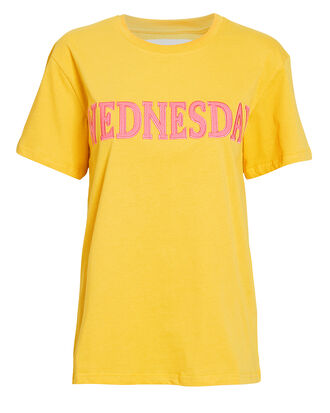 Wednesday Yellow T-Shirt, YELLOW/PINK, hi-res