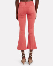 Le Bardot Crop Flare Jeans, RED, hi-res