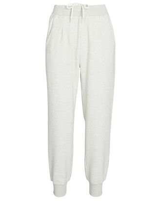 Chaucer Cropped Rib Knit Joggers, IVORY, hi-res