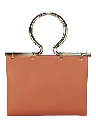 Rose Leather Tote, COGNAC, hi-res