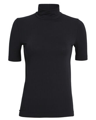 Aurora Jersey Turtleneck Top, BLACK, hi-res