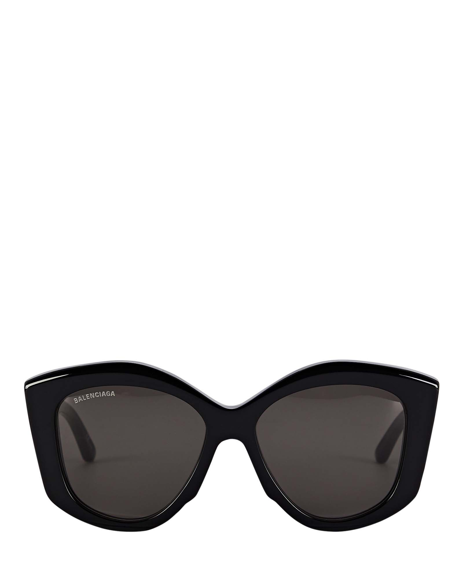 Oversized Butterfly Sunglasses, BLACK, hi-res