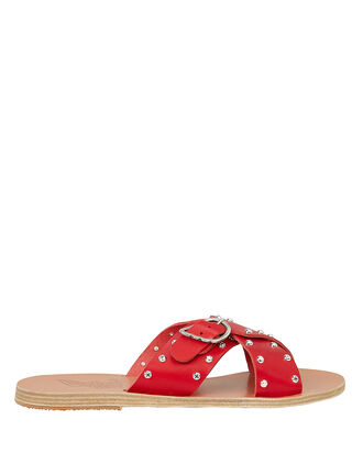 Pella Rivets Sandals, RED, hi-res