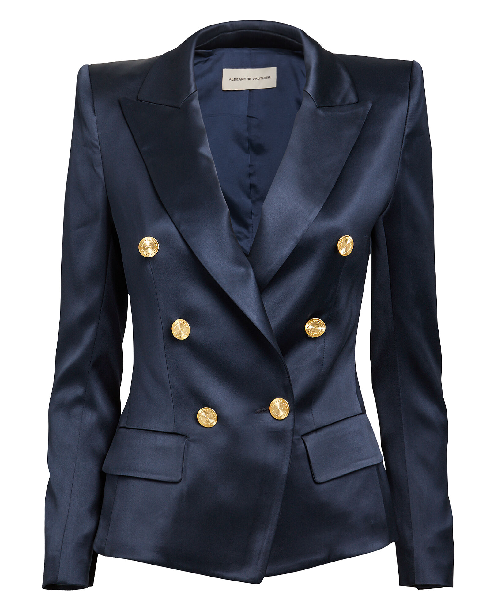 Navy Double-Breasted Blazer, NAVY, hi-res