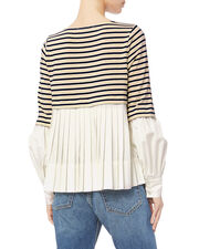 Levine Striped Top, IVORY, hi-res