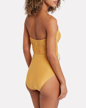 Paula Strapless One-Piece Swimsuit, GOLD, hi-res