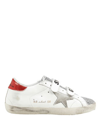 Superstar Old School Glitter Low-Top Sneakers, WHITE, hi-res