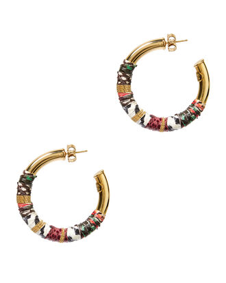 Creole Porto Massai Wrapped Hoops, MULTI, hi-res