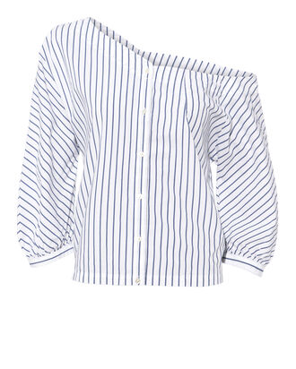 Striped Back Tie Top, MULTI, hi-res