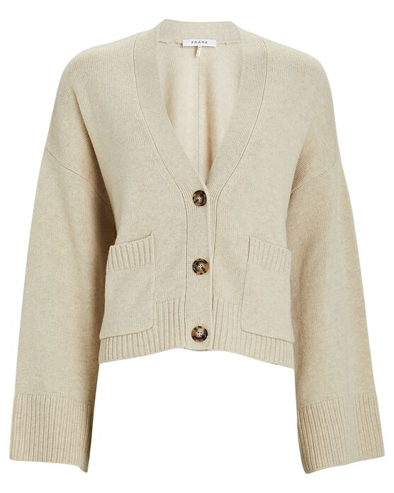 Frame Luxe Wool-Cashmere Cardigan