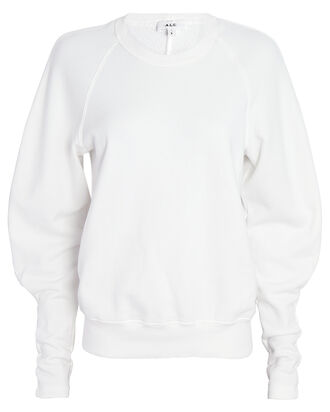 Ashton Blouson Sleeve Sweatshirt, WHITE, hi-res