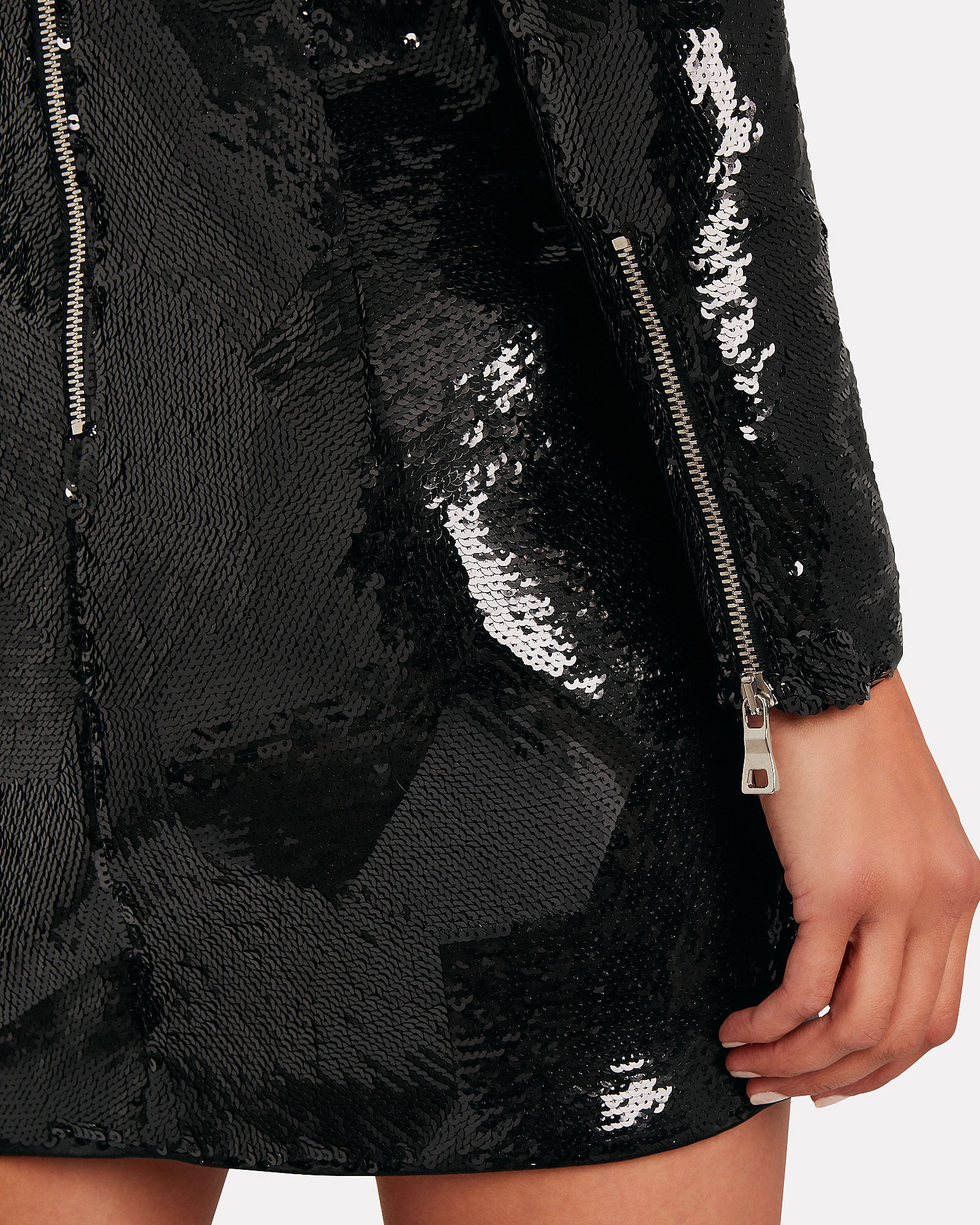Sequin-Embellished Mini Dress, BLACK, hi-res