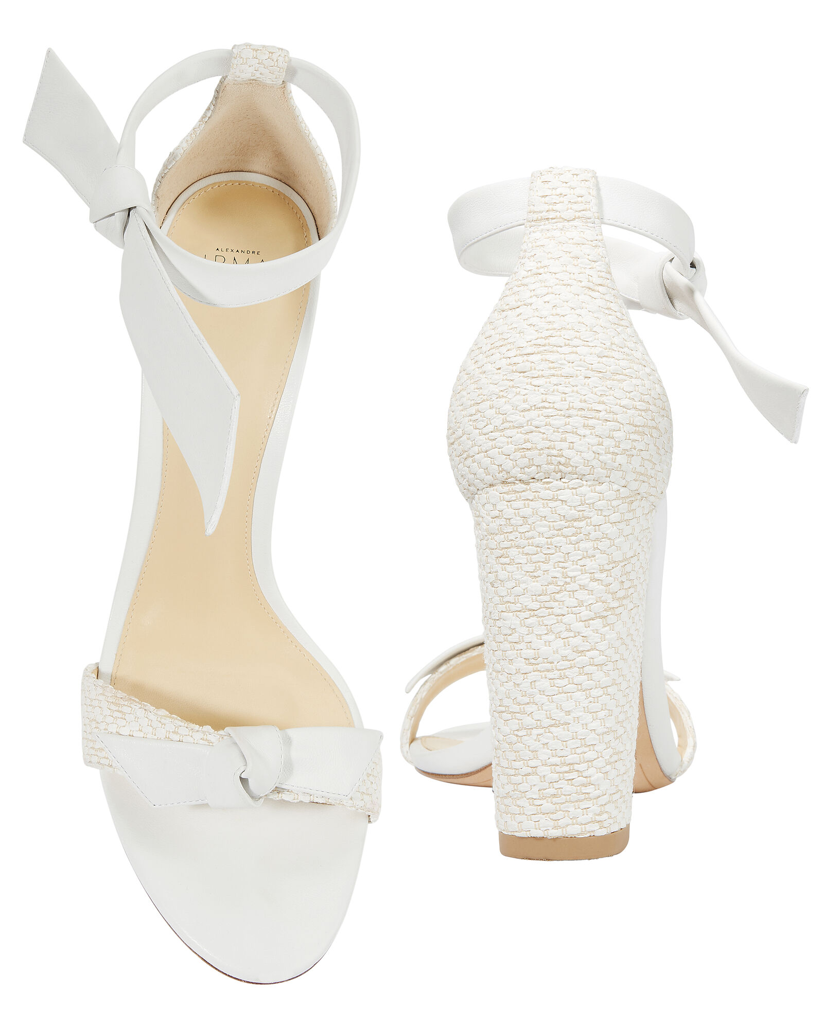 Clarita 90 Block Sandals, WHITE, hi-res
