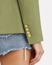 Linen Dickey Blazer, OLIVE/ARMY, hi-res