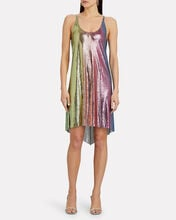 Rainbow Chainmail Mini Dress, MULTI, hi-res