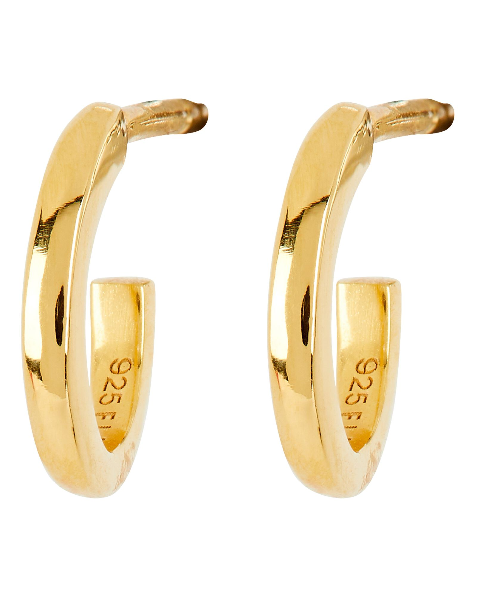 Forme Huggie Hoop Earrings, GOLD, hi-res
