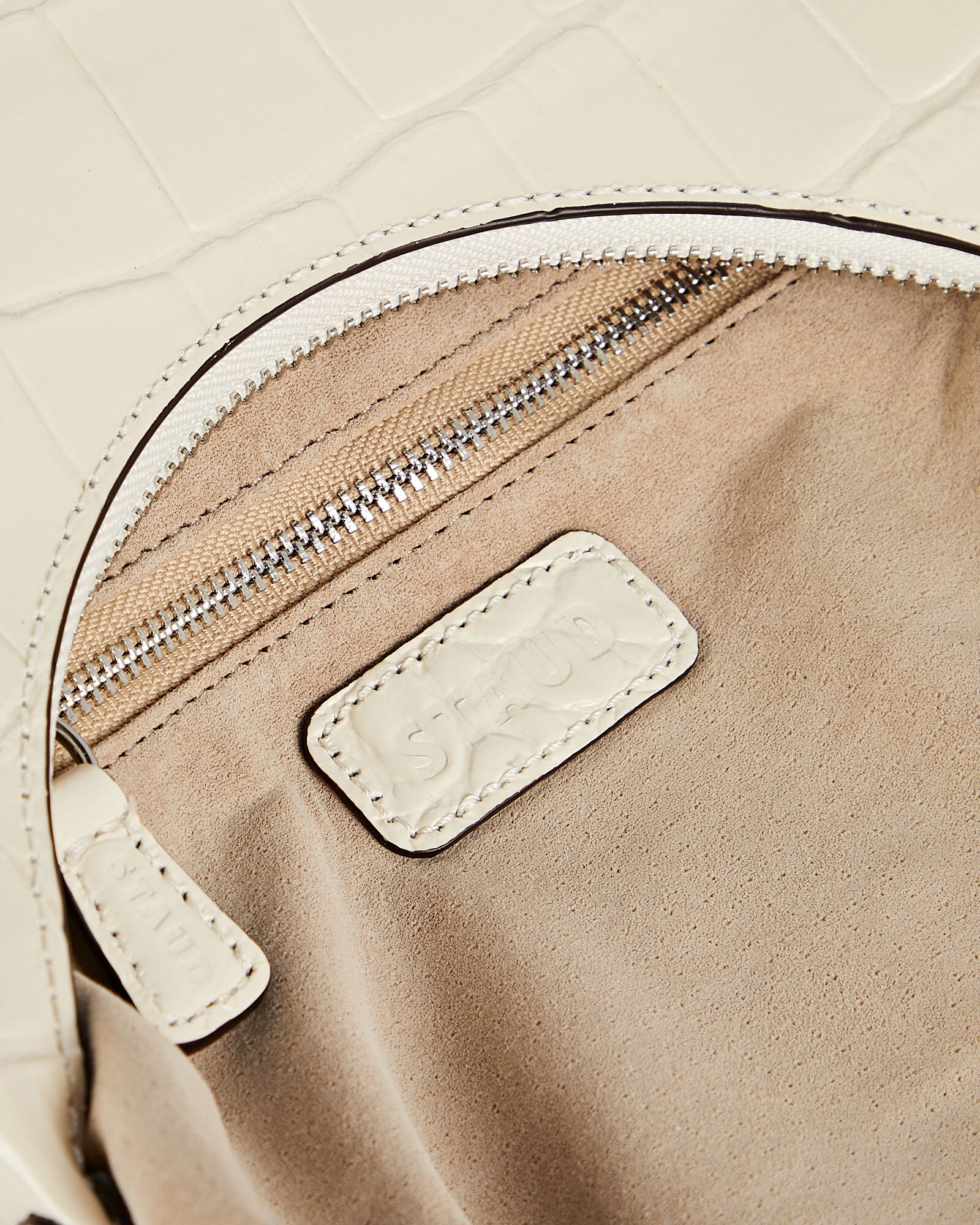 Scotty Croc-Embossed Leather Bag, IVORY, hi-res