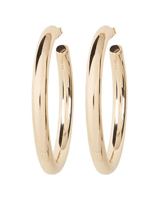 Modern Hoop Earrings, GOLD, hi-res