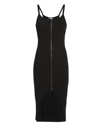 Ibiza Zip Front Dress, BLACK, hi-res