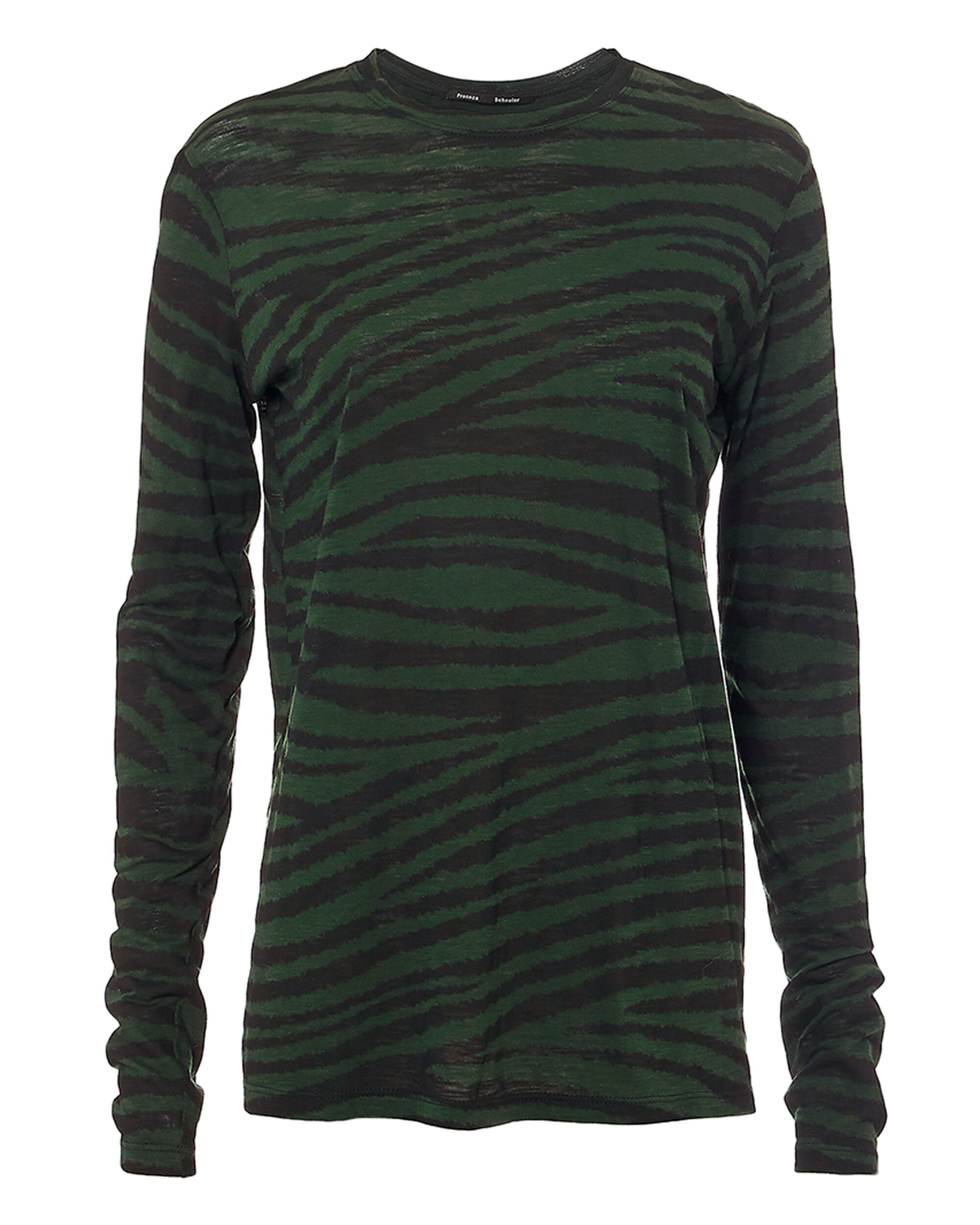 Tiger Printed Tissue Tee, GREEN, hi-res