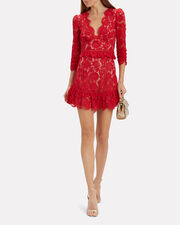 Leo Lace Top, RED/NUDE, hi-res