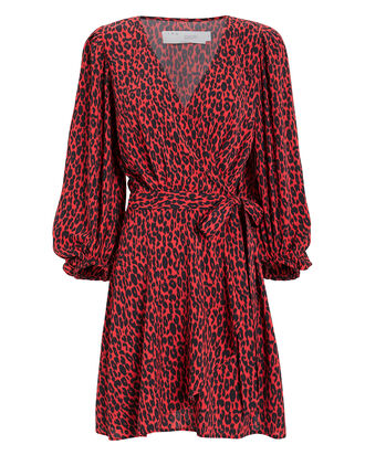 Boina Wrap Dress, RED/BLACK, hi-res