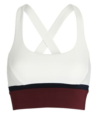 Heritage Sandy Sports Bra, WHITE, hi-res
