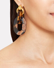 Sophia Earrings, GOLD/NAVY, hi-res