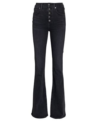 Beverly Flared High-Rise Jeans, WASHED ONYX, hi-res