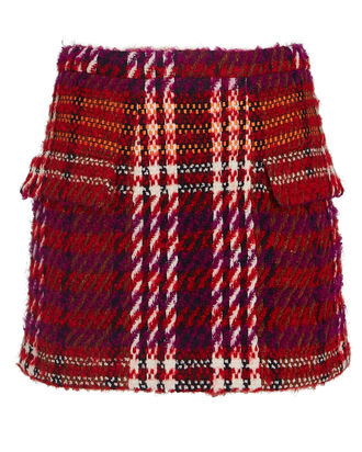 Quinn Bouclé Mini Skirt, RED/BLACK, hi-res