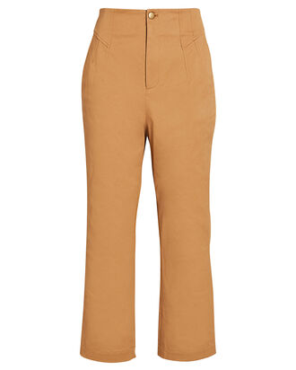 Luciana High-Rise Flared Pants, BROWN, hi-res