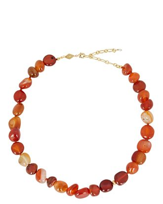Alba Beaded Necklace, RED, hi-res