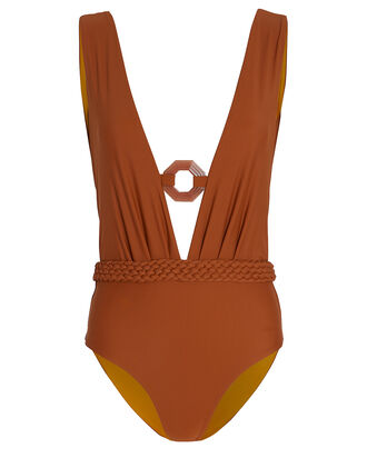 Bewildering Belted One-Piece Swimsuit, SIENNA, hi-res