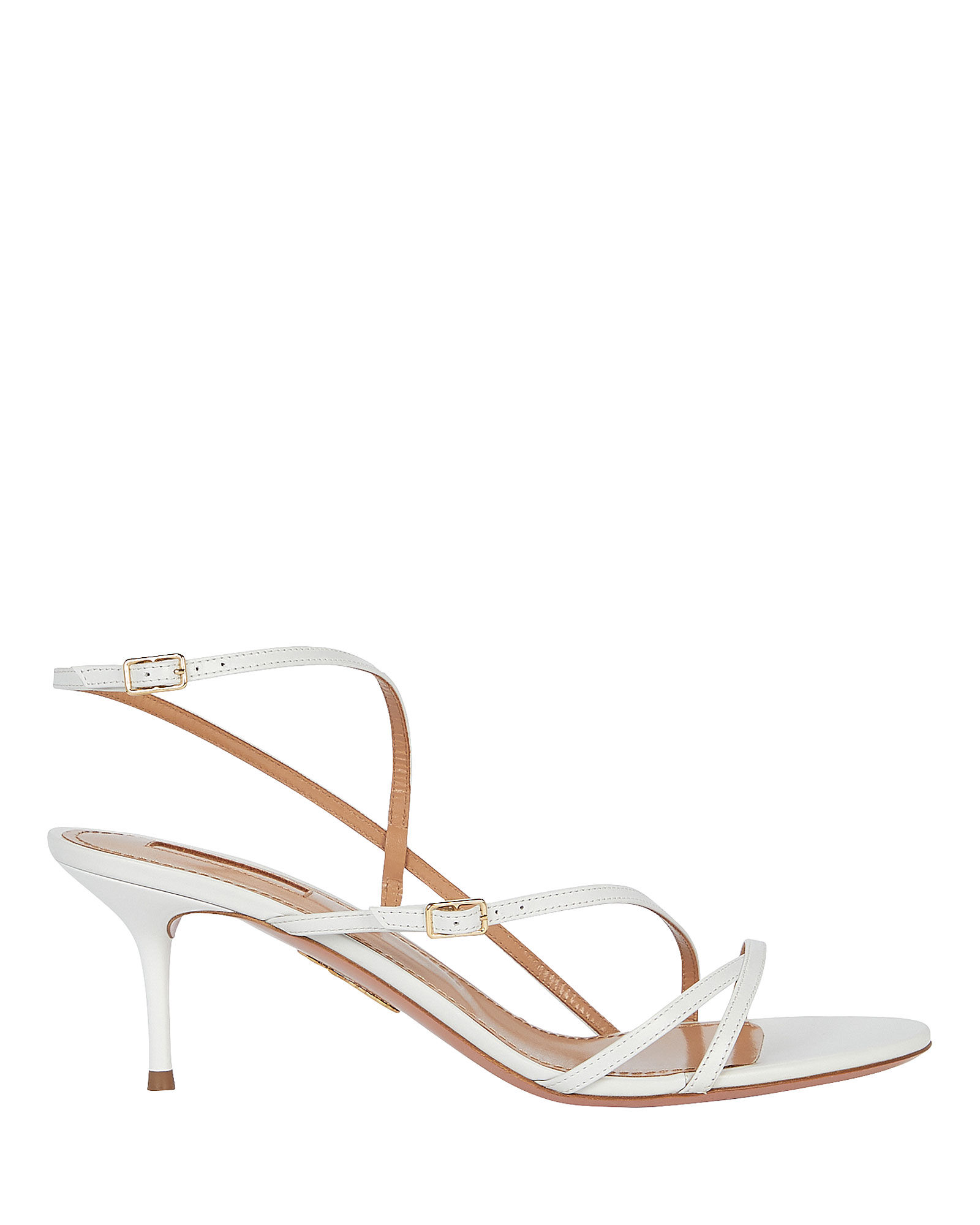 Carolyne 60 Leather Sandals, WHITE, hi-res