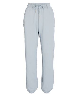 High-Rise Cotton Terry Sweatpants, LIGHT BLUE, hi-res