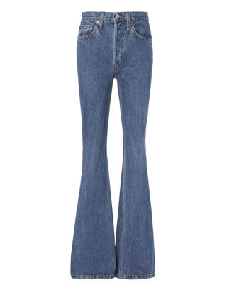 High Break Flare Jeans, DENIM, hi-res