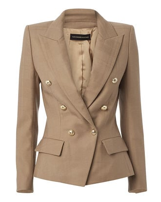 Double-Breasted Wool Blazer, BEIGE, hi-res