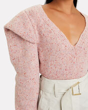 Wool-Blend V-Neck Sweater, PINK, hi-res